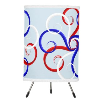 Patriotic Swirl Flower