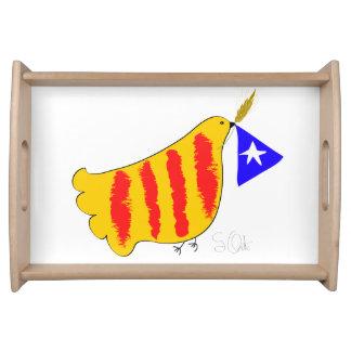 Patriotic Symbol, Catalonia freedom dove. Bandejas