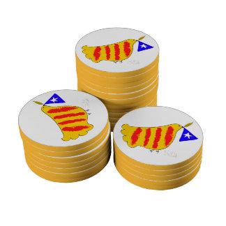 Patriotic Symbol, Catalonia freedom dove. Juego De Fichas De Póquer