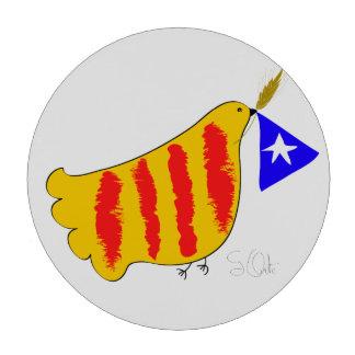 Patriotic Symbol, Catalonia freedom dove Juego De Fichas De Póquer