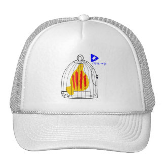 Patriotic Symbol, Catalonia freedom dove in cage Trucker Hat