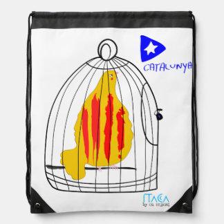 Patriotic Symbol, Catalonia freedom dove. Drawstring Bag