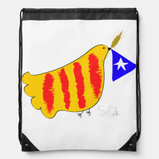 Patriotic Symbol, Catalonia freedom dove. Backpack