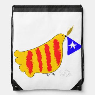 Patriotic Symbol, Catalonia freedom dove. Backpacks