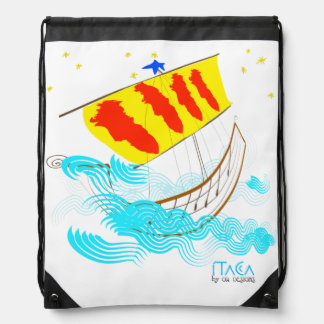 Patriotic Symbol, Catalonia freedom dove. Drawstring Backpack