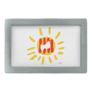 Patriotic Symbol, Catalonia freedom sun Belt Buckle
