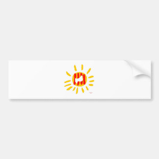 Patriotic Symbol, Catalonia freedom sun Bumper Sticker