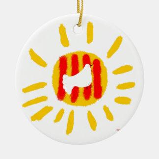 Patriotic Symbol, Catalonia freedom sun Ceramic Ornament