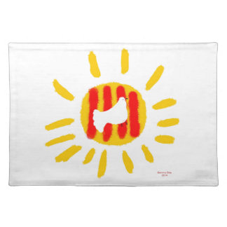 Patriotic Symbol, Catalonia freedom sun Cloth Placemat