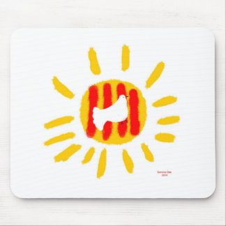 Patriotic Symbol, Catalonia freedom sun Mouse Pad