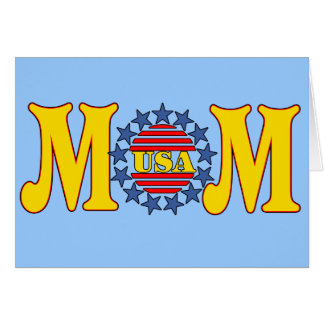 Patriotic T-shirts and Gifts For Mom Card