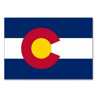 Patriotic table card with Flag of Colorado