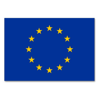Patriotic table card with Flag of European Union Table Card