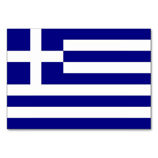 Patriotic table card with Flag of Greece