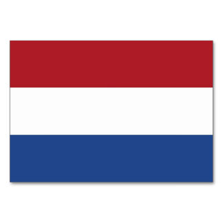 Patriotic table card with Flag of Netherlands