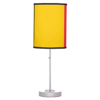 Patriotic table lamp with Flag of Belgium