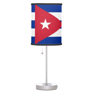 Patriotic table lamp with Flag of Cuba