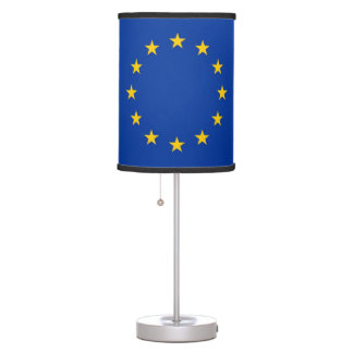 Patriotic table lamp with Flag of European Union