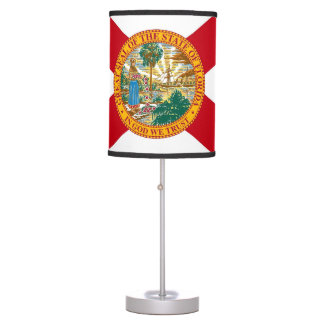 Patriotic table lamp with Flag of Florida