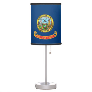 Patriotic table lamp with Flag of Idaho
