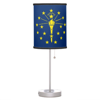 Patriotic table lamp with Flag of Indiana