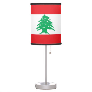 Patriotic table lamp with Flag of Lebanon