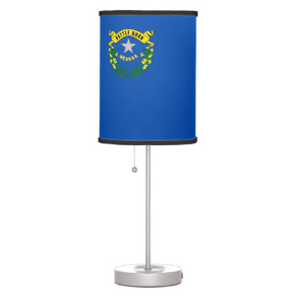 Patriotic table lamp with Flag of Nevada