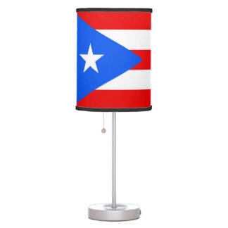 Patriotic table lamp with Flag of Puerto Rico