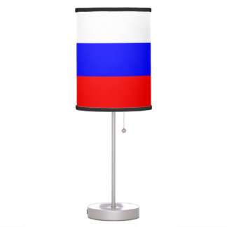 Patriotic table lamp with Flag of Russia