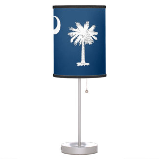 Patriotic table lamp with Flag of South Carolina