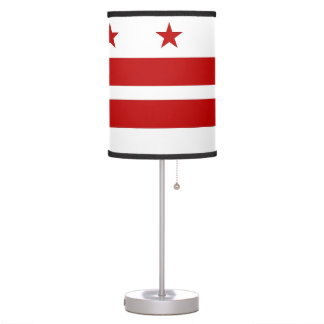 Patriotic table lamp with Flag of Washington DC