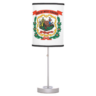 Patriotic table lamp with Flag of West Virginia