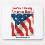 Patriotic - Take America Back Mouse Pads