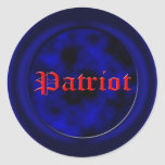 Patriotic tea party USA Round Stickers