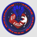 Patriotic tea party USA Stickers