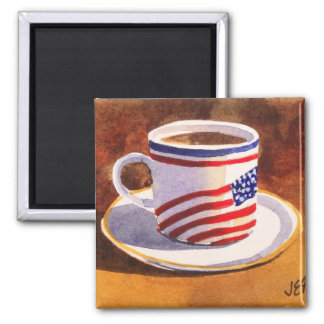 Patriotic Teacup Stars & Stripes Magnet
