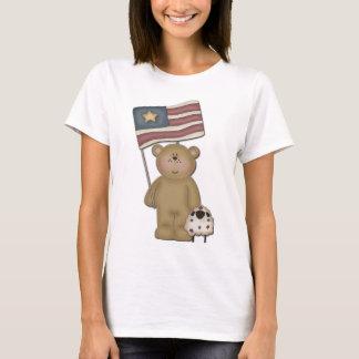 Patriotic Teddy Bear & his lamb T-Shirt
