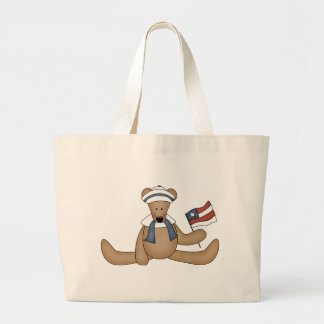 Patriotic Teddy Bear totebag Jumbo Tote Bag