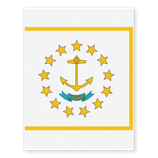 Patriotic temporary tattoos  Flag of Rhode Island
