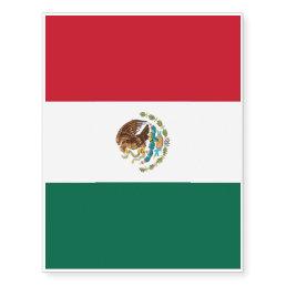 Patriotic temporary tattoos Mexico Flag