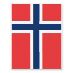 Patriotic temporary tattoos Norway Flag