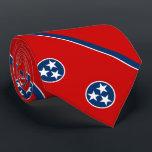 "Patriotic Tennessee State Flag Neck Tie<br><div class=""desc"">Patriotic Tennessee state flag.</div>"