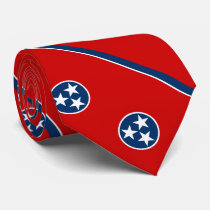 Patriotic Tennessee State Flag Neck Tie