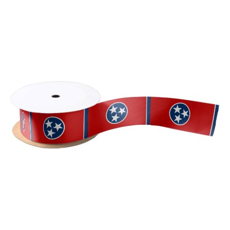 Patriotic Tennessee State Flag Satin Ribbon