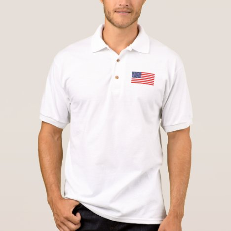 Patriotic tennis and golf polo shirts