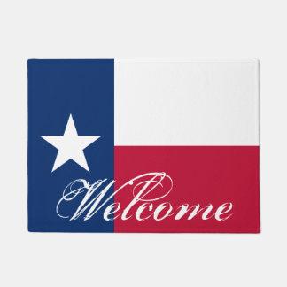 Patriotic Texas flag door mat for Texan home