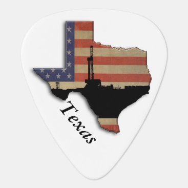 USA Themed Patriotic Texas Oil Drilling Rig Guitar Pick