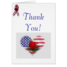 Patriotic Thank You Greeting Cards