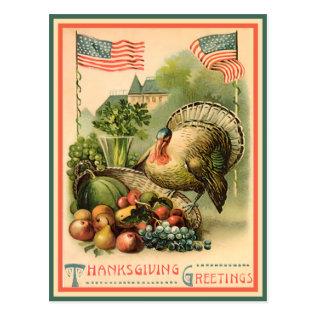 Patriotic Thanksgiving Postcard at Zazzle