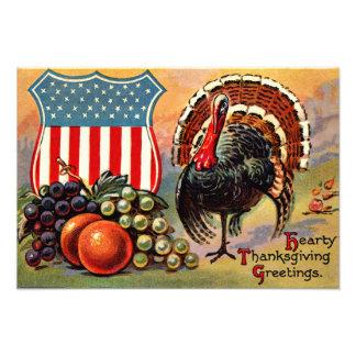 Patriotic Thanksgiving Turkey Fruit Photo Print